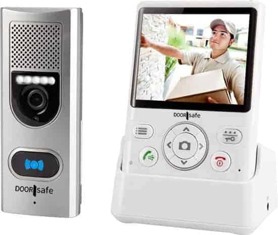 Draadloze Camera Deurbel - 3.5'' kleurenscherm - Doorsafe 4110
