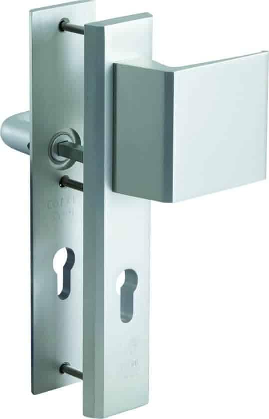 Nemef 3419/72 - Veiligheidsbeslag - Met kerntrekbeveiliging - SKG*** - Langschild - Greep/Kruk - 72mm