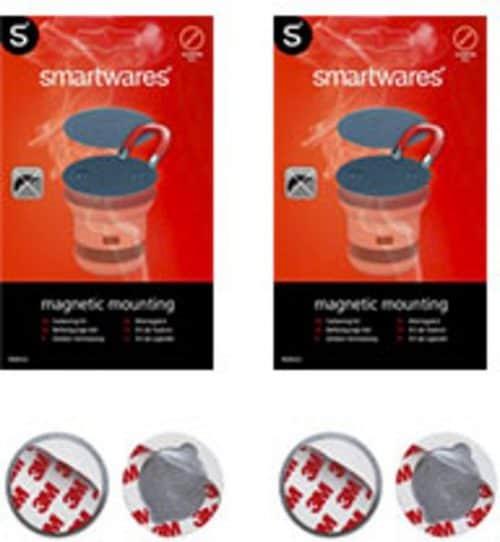 Smartwares RMAG3 - 2 stuks - Magnetische Montageset - 50 mm - Geschikt voor elke rookmelder en koolmonoxidemelder