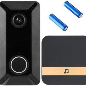 DeLux Ring Video - Delux V6 - alternatief voor ring- deurbel met camera – Draadloze deurbel met camera – inclusief gong + 2 oplaadbare batterijen – Video deurbel