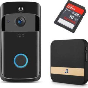Deurbel met camera incl. 16GB - inclusief chime