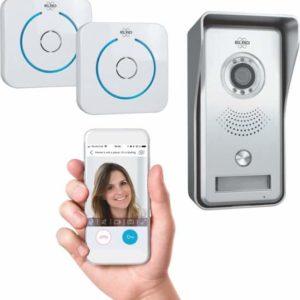 ELRO DVC040IP2 Wifi IP Video Deurbel - Camera met nachtzicht - met 2x Binnengong - Bekijken en communiceren via App