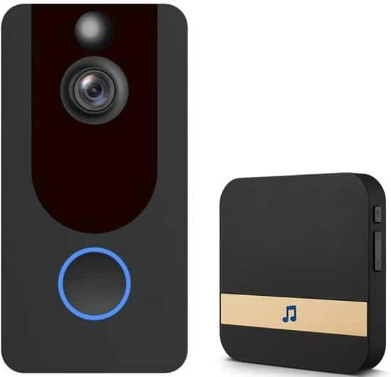 DeLUX RING video deurbel EKEN V7 - alternatief voor RING - 1080 full hd beeld - gratis cloud opslag