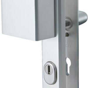 Nemef veiligheidsdeurbeslag 3419 - Greep/Kruk - Kerntrekbeveiliging - Afstand 72mm - SKG*** - LS - Aluminium