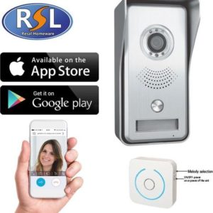 RSL Homeware RL-IP02C IP Video Deur Intercom - Camera met nachtzicht - Bekijk & Communiceer via mobiele App